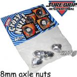 CRAZY NUTS by Suregrip Bullet 4 x 8mm Axle Nuts Roller Derby Quad Skates Chrome